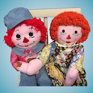 """20"""" Hand-made Raggedy Ann and Andy"""