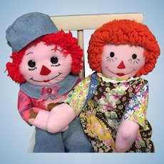 "20"" Hand-made Raggedy Ann and Andy"