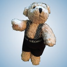 "Remembering John Kennedy Jr.  8"" Biege Teddy with GEORGE trousers"