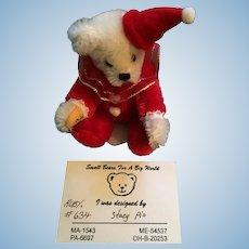 "Beautiful Artist Made 2 3/4"" Tiny Teddy 'Ruby' by Stacy Pio"