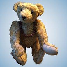 "Artist Made 14"" Golden Cut Mohair Fully Jointed Hump Back Bear"