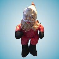 Circa 1957 Rushton Toy Company Rubber-Faced Red Plush Santa Claus