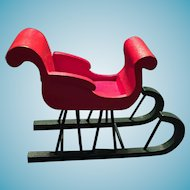 Christmas Wooden One Horse Open Sleigh