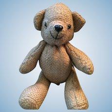 """Burlap 'Beary Nice' 8"""" Beige Button Bear"""