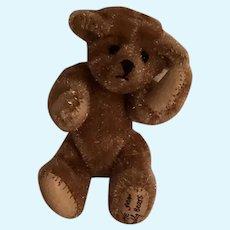 Artist-Made OOAK Miniature Clipped Mohair Honey Bear