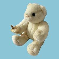 1983 'Collector's Classic Gund' White Plush Teddy Bear
