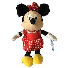 "15"" Plush Copyright Disney Minnie Mouse with Original Tag and Labels"