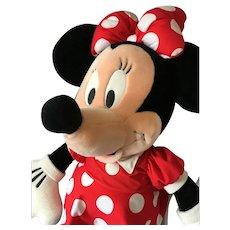 "Classic Vintage 32"" Soft Body Plush Minnie Mouse"