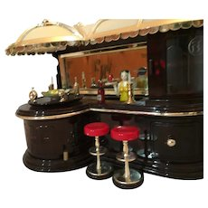 Rare Lights and Motion Fully Functioning Bar and Bartender Music Box