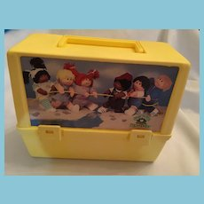 1984 Thermos Cabbage Patch Kids Yellow Plastic Lunchbox