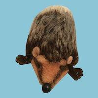 Circa 1960-70s Steiff Joggi Medium Brown Mohair Hedgehog