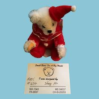"Beautiful Artist Made 2 3/4"" Tiny Teddy 'Ruby' by Stacy Pio"