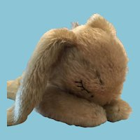 "Circa 1960s -70s Steiff Mohair Sleeping Rabbit/Bunny Floppy ""Hansi"" 5527/17"