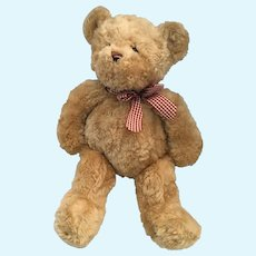 "13"" Bearington Baby 'Wuggles' Beige Plush Stuffed Animal Teddy Bear"