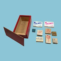 1987 Canadian Stamp Company Group in a Handmade Wooden Box.