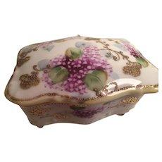 Morimura Antique Hand-painted Trinket Box