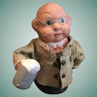 Circa 1940s Beer Guzzling Squeaker Toy from Germany