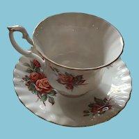 1967 Royal Albert Centennial Rose Bone China Tea Cup and Saucer