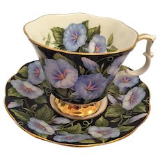 1970s Royal Albert 'Morning Glory' in the 'Floral Series' Tea Cup and Saucer