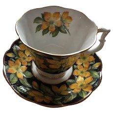 Tea for two or high tea - 1970s Royal Albert 'Rose of Sharon' Tea Cup and Saucer
