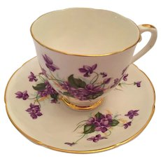 1960s 'Regency Bone China' Tea Cup and Saucer with Sweet Violets