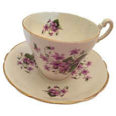 1960s 'Consort Fine Bone China' Tea Cup and Saucer with Pink Posies