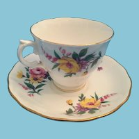 1960s 'Royal Vale Bone China' Tea Cup and Saucer 'Made in England'
