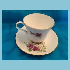 1950s 'Crown Trent Fine Bone China' 'Staffordshire Tea Cup and Saucer