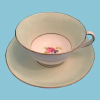 1930s - 40s 'Rosina Bone China' Tea Cup and Saucer 'Made in England