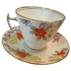 1940s 'Phoenix Bone China' Tea Cup and Saucer