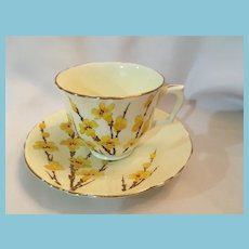 1940s 'Crown Staffordshire' Bone China Teacup and Saucer
