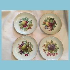 Naaman-Isreal Collection of Four Bone China Fruit Plates