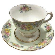 Colclough Bone China Signed Teacup and Saucer