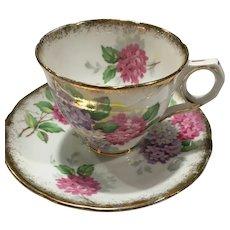 "Mid-Century Royal Stafford ""Carousel"" English Bone China Teacup and Saucer"