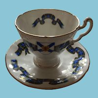 "1960s Royal Adderley ""Nova Scotia Tartan"" Tea Cup and Saucer"