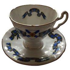 """1960s Royal Adderley """"Nova Scotia Tartan"""" Tea Cup and Saucer"""