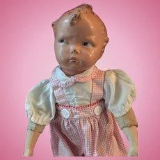 1930s Effanbee Baby Grumpy Molded Composition Head Doll