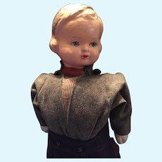 Circa 1930s Rare German Character Boy Walking Doll