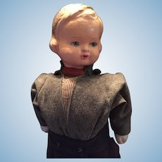 Circa 1930s Rare German Character Boy Walking Doll