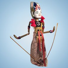 Indonesian Wooden Painted Rod Puppet