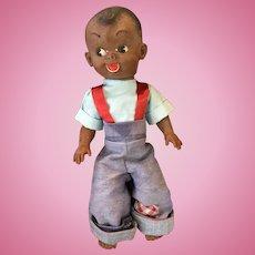 Circa 1940s -50s Reliable Canada Rubber Black Boy Doll.