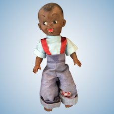 Circa 1940s -50s Reliable Canada Rubber Black Boy Doll.