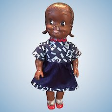 1950s Reliable Canada Rubber Squeaker Black Girl Doll