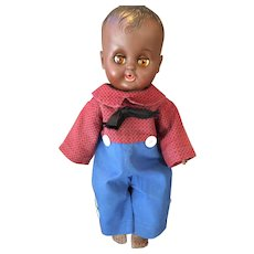Circa 1960s Pullan Co Hard Plastic African American Boy Doll