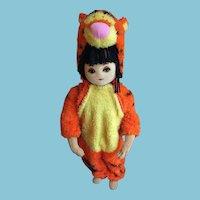 Sweet Girl Mannequin in a Disney Tigger Hallowe'en Suit