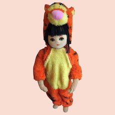 Sweet Girl Mannequin in a Disney Tigger Hallowe'en Suit