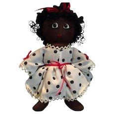 "9"" Handmade Vintage Raggedy African American Doll"