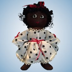 "9"" Handmade Vintage Raggedy African American Doll"