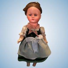 Vintage Gura National Costume Doll (Gura Trachtenpuppen Spielpuppen)