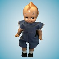 """Delightful Circa 1940s 13"""" Composition Kewpie doll by Rose O'Neill"""